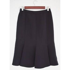 Giorgio Armani Fit To Flare Skirt Black Sz 36/2